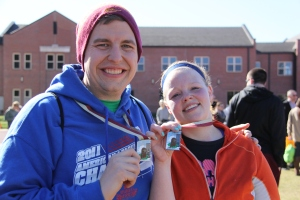 Nathan and Megan With Medals