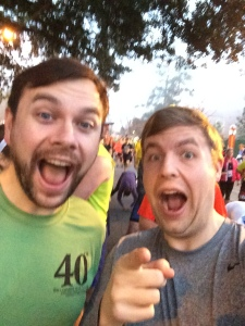 Brian and I at the starting line. Too excited for our own good.
